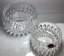 GORHAM ALTHEA Crystal Set of 2 Round Bowls Cut Crystal Germany