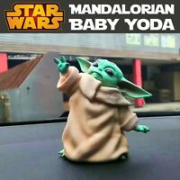 1Pc Star Wars Baby Yoda The Mandalorian Cute 8CM Action Figure Toy Gift For Kids