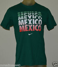 New Nike Mexico Futbol Soccer Fifa Men's Medium Green Premium T-Shirt 624665 310