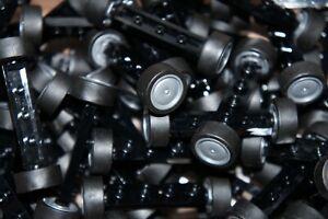 LEGO 20x WHEELS/TYRES & 10x BLACK AXLES 1x4 PARTS FOR CARS No 2926/93594
