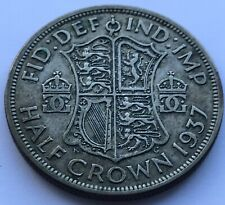 1937  .500 Silver - Half Crown - King George VI - (M234)