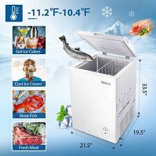 Tacklife Chest Freezer 3.5 Cu.Ft Quiet, Deep Freezer 7 Temp Settings Energy-Savi