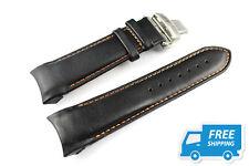 Black leather watchband strap for TISSOT TT035627/T035614 24mm