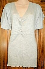 Women's pale grey kimono sleeve knit tunic size 12-14 by Atmosphere