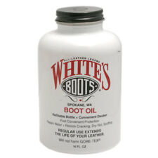 White's Boots Oil (16.oz Repels Water, Resists Cracking, Dry Rot & Scuffing)