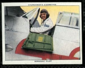Tobacco Card, Churchman, THE RAF AT WORK, 1938, Sergeant Pilot, #40