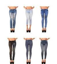 L32 stonewashed Damen-Jeans aus Denim mit niedriger Bundhöhe