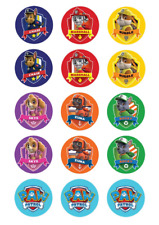Paw Patrol Edible Images for Cupcakes Fondant Icing Sheet Pack of 15