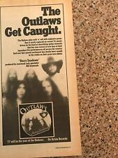 "1977 Vintage 5X11 Album Promo Print Ad For The Outlaws ""Hurry Sundown"" Szymczyk"