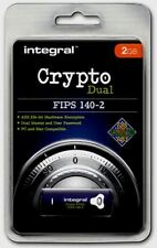 Crypto DUAL - FIPS 140-2 Encypted 2GB USB Flash Drive from Integral for PC & Mac