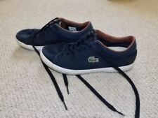 Lacoste blue trainers canvas shoes size 6 Eur 39.5 worn once in gt cond trendy