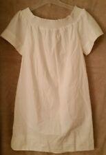 J Crew Womens Tall Off-the-shoulder dress cotton poplin F5784 Size 2T White