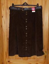 BON MARCHE chocolate brown corduroy midi calf long flare skirt BNWT 18 46 NEW