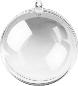Acrylkugel teilbar zum Aufhängen 6cm bis 16cm (Kunststoffkugel / Plastikkugel)