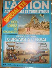 L'action automobile et touristique N° 188 1976 Break Opel Rekord CiTroën CX Auto