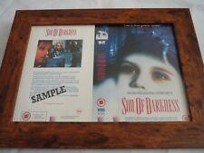 VHS manica incorniciato montato copre BIG BOX originale FIGLIO DELL'OSCURITA 'PROMO CAMPIONE