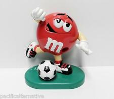 Distributeur M&M's footballeur foot rouge pub bonbons chocolat collector mms TBE