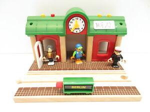 BRIO Eisenbahn 33578 Sprechender Bahnhof Aufnahme Zubehör Holz Gebäude MG12