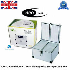 2 x 300 DJ Aluminium CD DVD Blu Ray Disc Storage Carry Case Box Numbered Sleeves