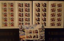 328 Briefmarken IMPF! Burundi Müsiker KB.+10-er Bogen ,postfrisch