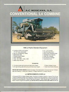 Allis-Chalmers L4 Conventional Combine Brochure