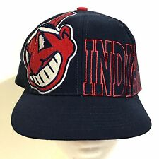 Cleveland Indians Hat The Game Big Logo SnapBack Cap Adjustable MLB Wahoo Vtg