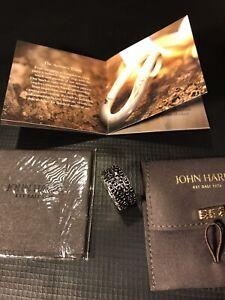 JOHN HARDY SILVER BLACK SAPPHIRE NAGA LAVA RING SIZE 12 1/2 AUTHENTIC $1895 MSRP