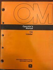 John Deere Operators Manual 110 Loader #Omw38932 Used
