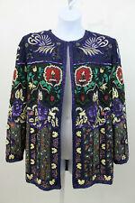 VINTAGE Judith Ann Beaded Sequin Jacket SZ L    (J49)