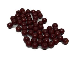 Lot 55 Dark Cherry Red Small Bakelite Buttons Beads