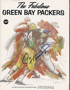 Paul Hornung signed 1968 The Fabulous Green Bay Packers program