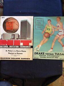 Lot Of 2 1960s College Basketball Programs - Notre Dame, Drake