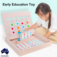 Four-Color Game Montessori Enlightenment Teaching Aids Wooden Children's Toys
