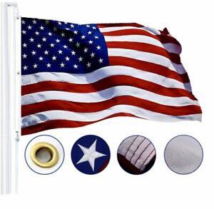 G128 – American Flag US USA   6x10 ft   Tough SPUN POLYESTER Embroidered Stars