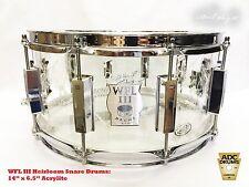 WFL III Heirloom: Top Hat & Cane Collectors Acrylic Snare Drum (Bill Ludwig III)