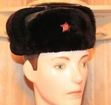 Russian Soviet Red Army and Police Winter Hat Fur-Cap USHANKA uniforms size 56