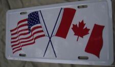 WHOLESALE LOT 18 USA AMERICA CANADA FLAG  LICENSE TAGS car auto Canadian U.S. us