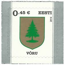 Estonia 2014 - Definitive Stamp: Voru Coat of Arms - MNH