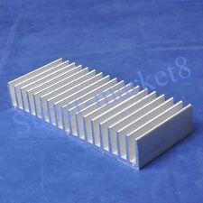 1pc Aluminum E Heatsink for Power Amplifier L6 L12 TDA7294 LM3886 132x80mm