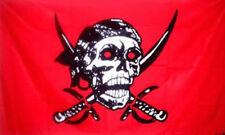 NEW 3X5ft CRIMSON PIRATE SKULL & SWORDS FLAG better quality usa seller