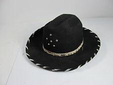 Vintage Black Roy Rogers Kids Play Hat Wool