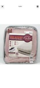 Biddeford Comfort Knit Fleece 10 Settings Electric Heated Blanket - KING - Blush