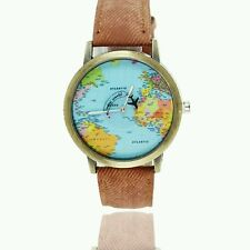 New Mini World Map Hot Watch Men Women Gift Watch