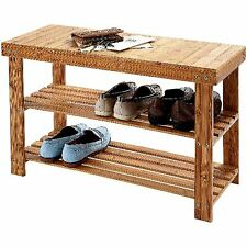 Shoe Rack Bamboo Wooden Storage Stand Organiser Shelf Holder Bench Organizer