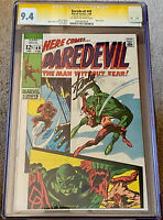 DAREDEVIL #49 CGC 9.4 OW/W PAGES SS SIGNED BY STAN LEE 1st STARR SAXON (1969) NM