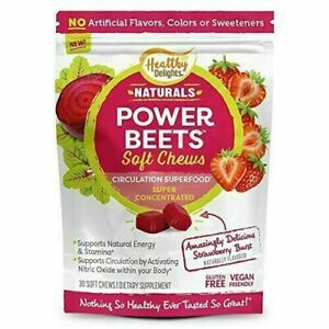 Healthy Delights Power Beets Chews-Strawberry Flavor- 30 Soft Chews