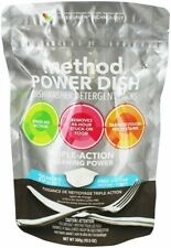 Method Power Dish Diswasher Detergent 20 Pack Bag Triple Action Cleaning Power