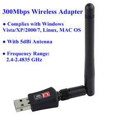 300Mbps USB WiFi 802.11n/g/b Wireless Adapter 300M LAN Card 5dbi Antenna RTL8192