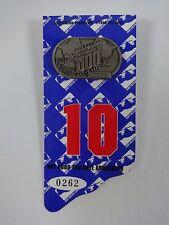 1996 Indianapolis 500 Silver Pit Badge w/ Back Up Card Buddy Lazier Hemelgarn