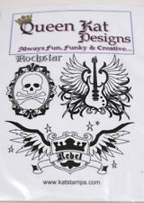 Queen Kat Designs - Rockstar Rebel ink stamp unmounted